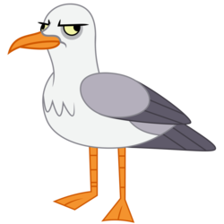 Size: 894x894 | Tagged: safe, artist:amarthgul, bird, seagull, surf and/or turf, animal, simple background, solo, transparent background, vector