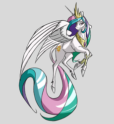 Size: 4884x5304 | Tagged: safe, artist:akweer, princess celestia, alicorn, pony, absurd resolution, female, flying, jewelry, mare, necklace, regalia, simple background, solo