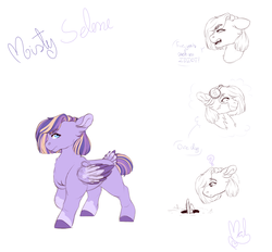 Size: 2800x2600 | Tagged: artist:mah521, female, filly, high res, oc, oc:misty selene, offspring, parent:flash sentry, parent:moondancer, parents:flashdancer, pegasus, pony, reference sheet, safe, solo