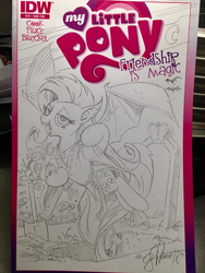 Size: 1536x2048 | Tagged: artist:andypriceart, bat, bat pony, clothes, female, flutterbat, fluttershy, grave, jewelry, mare, my little pony logo, necklace, race swap, robe, safe, shovel, solo, species swap, traditional art