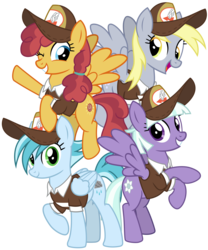 Size: 3000x3600 | Tagged: safe, artist:cheezedoodle96, appointed rounds, derpy hooves, rainy day, sunny delivery, pegasus, pony, the break up breakdown, .svg available, background pony, clothes, cute, delivery pony, female, flying, hat, looking at you, mailmare, mailmare hat, mare, one eye closed, raised hoof, rearing, shirt, simple background, smiling, svg, transparent background, vector, waving, wink