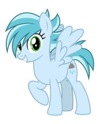 Size: 3200x4000 | Tagged: alternate version, artist:cheezedoodle96, background pony, female, looking at you, mare, pegasus, pony, rainy day, raised hoof, safe, simple background, smiling, solo, svg, .svg available, the break up breakdown, transparent background, vector