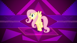 Size: 3840x2160 | Tagged: artist:laszl, cute, female, fluttershy, mare, pony, safe, shyabetes, smiling, solo, wallpaper