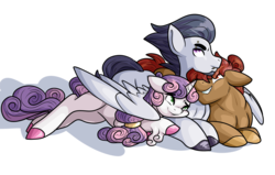 Size: 5500x3500 | Tagged: artist:heyerika, bisexual, button mash, colored hooves, cuddling, earth pony, female, gay, hug, looking at each other, male, mare, older, ot3, pegasus, piercing, polyamory, pony, rumbelle, rumbellemash, rumble, rumblemash, safe, shipping, simple background, stallion, straight, sweetie belle, sweetiemash, transparent background, unicorn, unshorn fetlocks, winghug