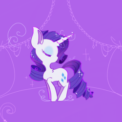 Size: 900x900 | Tagged: safe, artist:jisuppe, rarity, pony, chibi, eyes closed, solo