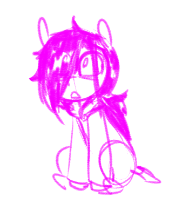 Size: 176x209 | Tagged: safe, artist:whydomenhavenipples, oc, oc only, oc:floor bored, pony, clothes, hair over one eye, hoodie, messy hair, messy mane, sitting, sketch, smol, solo