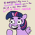 Size: 1650x1650 | Tagged: alicorn, artist:tjpones, calarts, dialogue, female, gray background, grinning potato, mare, neigh, open mouth, pointing, pony, safe, simple background, sitting, smiling, solo, spread wings, take that, thundercats roar, twilight sparkle, twilight sparkle (alicorn)