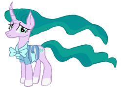 Size: 779x557 | Tagged: safe, artist:qjosh, mistmane, rarity, character to character, flowing mane, flowing tail, pony to pony, transformed