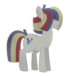 Size: 1024x1132 | Tagged: artist:ashiida, earth pony, male, oc, oc:soggy quilt, offspring, parent:maud pie, parent:mud briar, parents:maudbriar, pony, safe, simple background, solo, stallion, transparent background