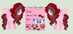 Size: 2360x1088 | Tagged: artist:xxreddevil12xx, base used, female, mare, oc, oc:sweet chocolate, pegasus, pony, reference sheet, safe, simple background, solo, transparent background