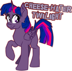 Size: 1784x1762 | Tagged: safe, artist:binkyt11, derpibooru exclusive, twilight sparkle, alicorn, pony, secrets and pies, alternate scenario, evil, evil cheese hater twilight, evil pie hater dash species, evil twilight, fangs, female, mare, medibang paint, revenge, simple background, solo, they're just so cheesy, transparent background, twilight sparkle (alicorn)