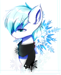 Size: 1400x1700 | Tagged: safe, artist:heddopen, oc, oc only, oc:diamond frost, pony, clothes, ear fluff, male, scarf, solo, stallion