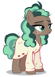 Size: 3728x5200 | Tagged: safe, artist:dragonchaser123, minty mocha, earth pony, pony, the parent map, absurd resolution, clothes, female, lidded eyes, mare, simple background, solo, sweater, transparent background, vector