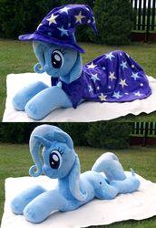 Size: 2668x3876 | Tagged: safe, artist:adamar44, trixie, cape, clothes, hat, irl, photo, plushie, trixie's cape, trixie's hat