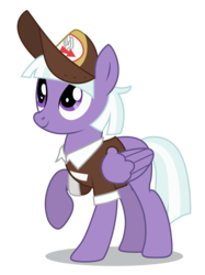 Size: 3744x5000 | Tagged: absurd res, appointed rounds, artist:dragonchaser123, background pony, cap, clothes, female, hat, looking up, mailmare, mailmare hat, mare, pegasus, pony, raised hoof, safe, simple background, smiling, solo, the break up breakdown, transparent background, uniform, vector