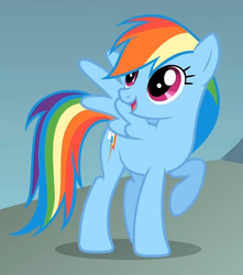 Size: 518x586 | Tagged: cropped, dragonshy, female, mare, pegasus, rainbow dash, safe, screencap, solo