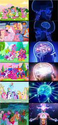 Size: 1422x3072 | Tagged: ace, applejack, bon bon (g1), bowtie (g1), bright eyes, cat, cheerilee (g3), clover (g1), core seven, earth pony, edit, edited screencap, escape from catrina, expanding brain, female, firefly, first born, fluttershy, g1, g3, g3.5, g4, glory, mane six, mare, medley, megan williams, melody, meme, my little pony, my little pony tales, newborn cuties, patch (g1), pegasus, pinkie pie, pinkie pie (g3), pony, rainbow dash, rainbow dash (g3), rarity, safe, scootaloo (g3), screencap, starlight, starsong, sweetheart, sweetie belle (g3), teddy, toola roola, twilight, twilight sparkle, unicorn, unicorn twilight, unnamed g1 pony