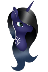 Size: 1872x2800 | Tagged: artist:cindypinkartje, bust, female, mare, oc, oc:night star, pony, portrait, safe, simple background, solo, transparent background, unicorn