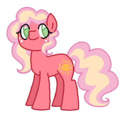 Size: 447x405 | Tagged: safe, artist:moonrose95, oc, oc only, oc:harvest sun, earth pony, pony, female, mare, offspring, parent:big macintosh, parent:cheerilee, parents:cheerimac, simple background, solo, transparent background