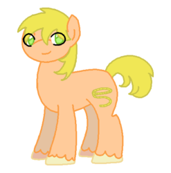 Size: 475x481 | Tagged: safe, artist:moonrose95, oc, oc only, oc:golden corral lasso, earth pony, pony, male, offspring, parent:big macintosh, parent:cheerilee, parents:cheerimac, simple background, solo, stallion, transparent background