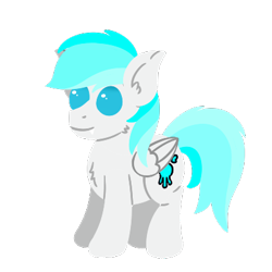 Size: 400x400   Tagged: safe, artist:dash rocket, oc, oc only, oc:frostyee, ice pony, pegasus, pony, cute, male, simple background, solo, stallion, transparent background