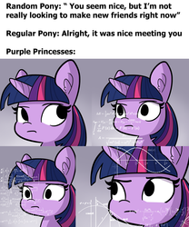 Size: 3750x4500 | Tagged: safe, artist:tjpones, twilight sparkle, alicorn, pony, arrow, bust, ear fluff, empty eyes, equation, fancy mathematics, female, geometry, graph, gray background, high res, hilarious in hindsight, looking back, looking up, mare, math, math lady meme, meme, no catchlights, no iris, physics, raised eyebrow, sideways glance, simple background, sine wave, solo, text, thinking, trigonometry, twilight sparkle (alicorn), wat, wide eyes