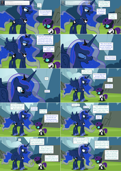 Size: 2564x3617 | Tagged: alicorn, artist:hakunohamikage, ask, ask-princesssparkle, bandage, cutiespark, high res, oc, oc:nyx, pony, princess luna, safe, tumblr