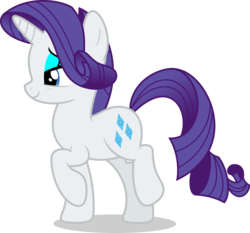 Size: 7000x6533 | Tagged: safe, artist:luckreza8, rarity, pony, unicorn, molt down, absurd resolution, bedroom eyes, eyeshadow, female, lidded eyes, makeup, mare, raised hoof, simple background, smiling, solo, transparent background, vector