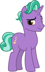 Size: 2000x3200 | Tagged: safe, alternate version, artist:cheezedoodle96, derpibooru exclusive, edit, firelight, pony, unicorn, the parent map, .svg available, accessory-less edit, looking at you, male, missing accessory, nude edit, nudity, simple background, smiling, solo, stallion, svg, transparent background, vector