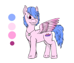Size: 543x465 | Tagged: artist:recordmelodie, dog tags, male, oc, oc only, oc:soundfall graph, pegasus, pony, safe, simple background, smiling, stallion, transparent background