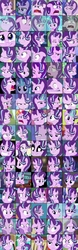 Size: 1008x3230   Tagged: safe, edit, edited screencap, screencap, firelight, starlight glimmer, pony, a hearth's warming tail, a royal problem, all bottled up, celestial advice, equestria girls, every little thing she does, mirror magic, no second prances, rock solid friendship, school daze, shadow play, the crystalling, the cutie map, the cutie re-mark, the maud couple, the parent map, to change a changeling, to where and back again, uncommon bond, spoiler:eqg specials, angry, biting, board game, boop, canterlot high, close-up, collage, compilation, cropped, crystal empire, cute, dragon pit, faic, female, filly, filly starlight glimmer, food, frown, glimmerbetes, glimmerposting, grin, headscarf, levitation, lidded eyes, lip bite, magic, meme, multeity, nervous, nervous grin, our town, popcorn, ragelight glimmer, raised eyebrow, s5 starlight, scarf, scrunchy face, self-boop, sire's hollow, smiling, sparkly eyes, squishy cheeks, starlight cluster, starlight says bravo, telekinesis, the many faces of starlight glimmer, tired, tongue bite, train station, trixie's puppeteering, twilight's castle, wall of tags, welcome home twilight, younger