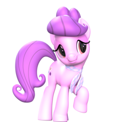 Size: 1920x1920 | Tagged: 3d, artist:fillerartist, blender, earth pony, female, looking away, mare, pony, render, safe, simple background, solo, suri polomare, transparent background