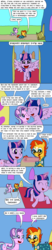 Size: 1000x4800 | Tagged: alicorn, artist:bjdazzle, comic, door, double standard, happy, heart, hug, irony, oblivious, safe, scroll, season 8 homework assignment, starlight glimmer, starry eyes, sunburst, that pony sure does love kites, the parent map, twilight's castle, twilight sparkle, twilight sparkle (alicorn), wingding eyes
