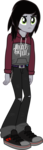Size: 599x2072 | Tagged: safe, artist:lightningbolt, derpibooru exclusive, equestria girls, .svg available, belt, chains, clothes, confused, disguise, disguised siren, emo, equestria girls-ified, hair over one eye, hoodie, indifferent, jeans, jewelry, kellin quinn, male, necklace, pants, pierce the veil, ripped jeans, seatbelt belt, shirt, shoes, simple background, sleeping with sirens, sneakers, solo, svg, transparent background, undershirt, vector