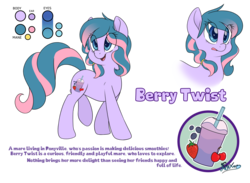 Size: 6000x4400 | Tagged: safe, artist:fluffyxai, oc, oc only, oc:berry twist, pony, absurd resolution, movie accurate, reference sheet, simple background, smiling, solo, transparent background, walking