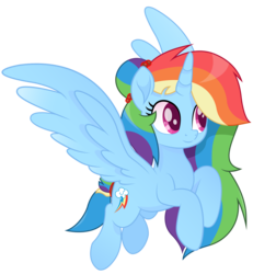 Size: 9950x10789 | Tagged: absurd res, alicorn, alicornified, artist:joemasterpencil, cutie mark, female, movie accurate, race swap, rainbowcorn, rainbow dash, safe, simple background, solo, transparent background, vector