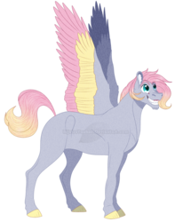 Size: 1240x1575 | Tagged: safe, artist:bijutsuyoukai, oc, pegasus, pony, magical lesbian spawn, male, offspring, parent:derpy hooves, parent:fluttershy, parents:derpyshy, simple background, solo, stallion, transparent background