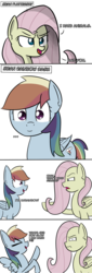 Size: 1448x4273 | Tagged: artist:artiks, clone, comic, cute, dashabetes, dialogue, duo, duo female, evil rainbow dash, female, fluttershy, mean dashabetes, mean fluttershy, mean rainbow dash, mean shyabetes, pegasus, pony, safe, shyabetes, simple background, the mean 6, unrainbow, white background