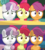 Size: 1751x1961 | Tagged: safe, screencap, apple bloom, scootaloo, sweetie belle, earth pony, pegasus, pony, unicorn, marks for effort, comparison, cutie mark crusaders, female, filly