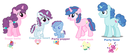 Size: 4692x1964 | Tagged: artist:hollymau, family, male, offspring, parent:party favor, parents:partybelle, parent:sugar belle, partybelle, party favor, safe, shipping, straight, sugar belle