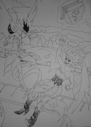 Size: 759x1052   Tagged: artist needed, safe, sci-twi, sunset shimmer, twilight sparkle, alicorn, demon, equestria girls, midnight sparkle, midnightsatan, sunset satan, traditional art