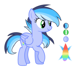 Size: 1624x1504 | Tagged: safe, artist:thesmall-artist, oc, oc:aqua rainbow, pegasus, pony, female, mare, offspring, parent:rainbow dash, parent:soarin', parents:soarindash, reference sheet, simple background, solo, transparent background
