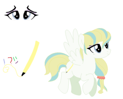 Size: 575x464 | Tagged: artist:skystar20, female, mare, oc, oc:wave sky, offspring, parent:coco pommel, parent:zephyr breeze, pegasus, pony, reference sheet, safe, simple background, solo, transparent background