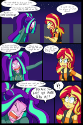 Size: 1280x1920 | Tagged: aria blaze, artist:jake heritagu, breakup, clothes, comic, comic:aria's archives, comic:the break up, equestria girls, female, flashback, implied lesbian, implied sci-twi, implied scitwishimmer, implied shipping, lesbian, safe, series:sciset diary, shipping, sunblaze, sunset shimmer