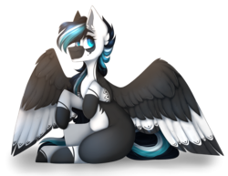Size: 3000x2317 | Tagged: artist:m-miamo, female, mare, oc, oc:midnight river, pegasus, pony, safe, simple background, sitting, solo, transparent background