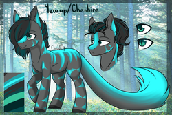 Size: 1800x1200 | Tagged: artist:cloud-fly, augmented tail, earth pony, male, oc, oc:cheshire, pony, reference sheet, safe, solo, stallion