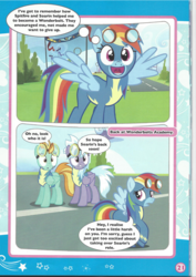 Size: 826x1169 | Tagged: artist needed, safe, cloudchaser, lightning dust, rainbow dash, clothes, comic, cute, dashabetes, goggles, magazine scan, super sub!, uniform, wonderbolts uniform