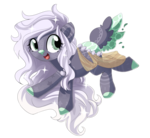 Size: 800x737 | Tagged: safe, artist:xsidera, oc, oc only, oc:daydream, deer pony, original species, pond pony, fawn, female, simple background, solo, transparent background