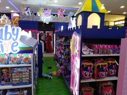 Size: 4032x3016 | Tagged: safe, photographer:horsesplease, applejack, fluttershy, pinkie pie, rainbow dash, rarity, twilight sparkle, alicorn, baby alive, bag, castle, doll, fail, irl, kuala lumpur, kylo ren, malaysia, mane six, my little pony logo, photo, plushie, star wars, toy, toy store, toys r us, twilight sparkle (alicorn), you had one job
