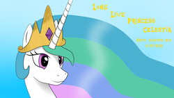 Size: 3840x2160 | Tagged: celestia day, derpibooru exclusive, princess celestia, safe, simple background, solo